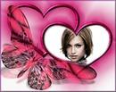 Pink heart Butterfly ♥