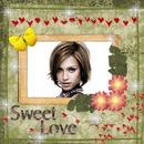 Sweet love Butterflies Hearts Flowers