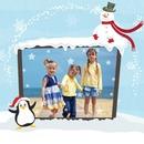 Christmas children Auk Snowman