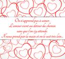Valentine's Day card Love message