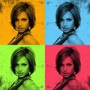4 quadricolor pictures Grunge edges