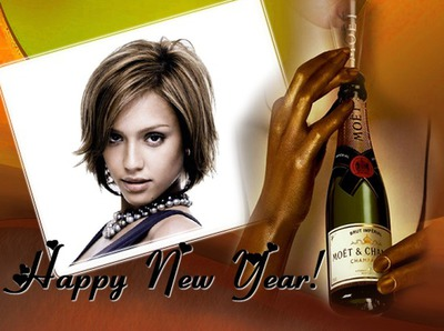 Happy New Year Feliz ano novo Champanhe MOET