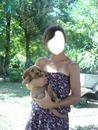fille et le chien
