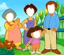 Visage Dora et sa famille