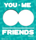 you + me = friends