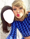 your face and Taylor Swift