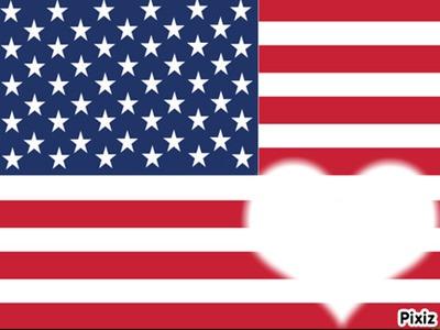 Montage photo drapeau de l 39 amerique pixiz - Drapeau de l amerique ...