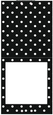 Quadro-Poás brancos com fundo preto.